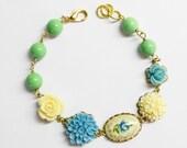 Cameo Blue Porcelain Blossom Bracelet