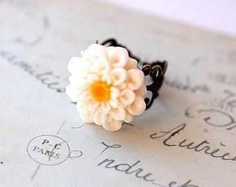 Paulette Big Blossom Brass Ring