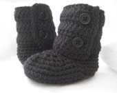 12 to 18 Months - Cute Baby Booties Boots for Boys and Girls in Your Choice of Colors  (EL-0938)
