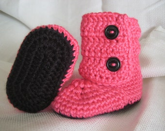 Precious Baby Boots for Girls or Boys - Sizes 0 up to 6 Months