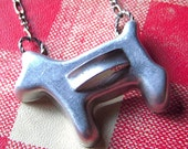 Cookie Cutter Necklace Pendant - Vintage Miniature Dog Shape