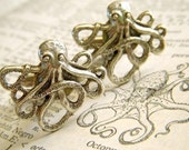 Octopus Cufflinks - Captain of the Nautilus Formal - Silver Plated Metal - Cosmic Firefly Exclusive Original Design