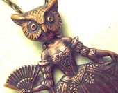 Steampunk Necklace OWL GIRL Victorian Sideshow Circus Freak Masquerade Ball - Original Design by Cosmic Firefly