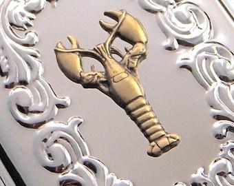 Lobster Case Steampunk Cigarette Case Nautical Cigarette Case Lobster Card Case Or Business Card Holder Vintage Style Brass Lobster New