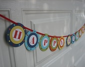 BRIGHTS Collection- Dotted, Happy Birthday Banner