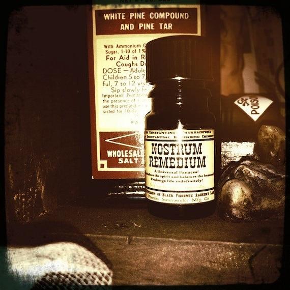 Nostrum Remedium: Steampunk Quack Medicine Perfume by Black Phoenix Alchemy Lab 5ml