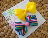 Preppy Stripe Boutique Hair Bows