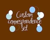 Custom Correspondence Thank You Card Set
