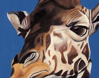 Children's Room Art Print - King of All He Surveys Giraffe