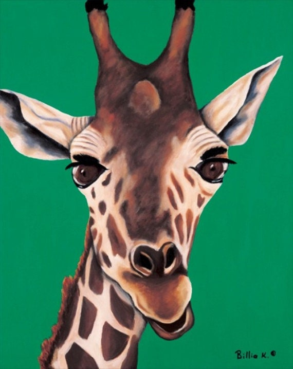 Giraffe Painting Limited Edition Fine Art Canvas Giclee