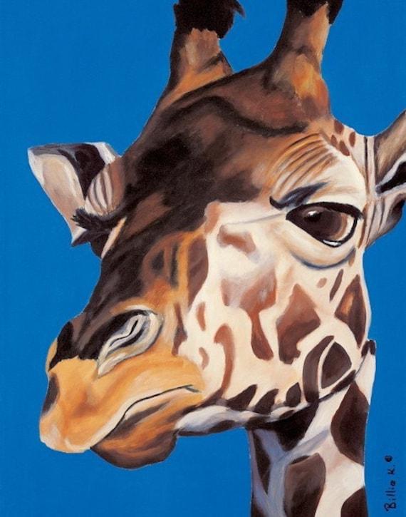 Children's Room Art Print: King of All He Surveys Giraffe