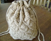 Square Round Pinecone Pattern Knitted Pouch Free Shipping USA and Canada