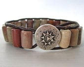 Leather Wrap Bracelet Bohemian Style Cuff Single Wrap