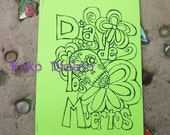 day of the dead coloring book featuring original drawings