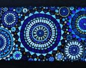 Beautiful Blue Circles Mosaic Window Panel