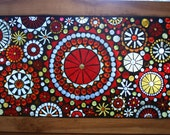 Mosaic Window Panel Beautiful reds, golds and amber tones circle pattern