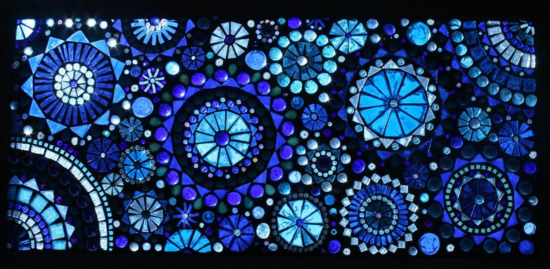 Large beautiful Glass on Glass mosaic window panel