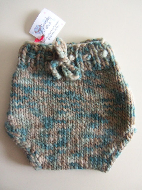 Cloth Diaper Cover - Handknit wool soaker