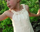 The Ruffled Linen Tunic - choice of color, made to order