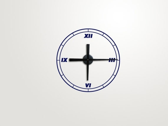 Modern Roman Numeral Vinyl Wall Clock