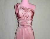 Pink Champagne Bridesmaids Wrap/Twist Dress...One Dress/Infinite Styles...72 Colors /Patterns to Choose From