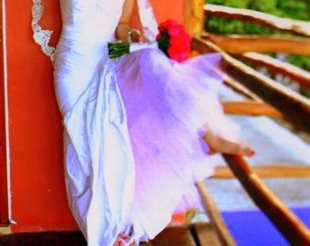 Hand Dyed Crinoline in Blush - Mermaid Crinoline Aline Crinoline Extra Full Crinoline- - Custom Colors Available
