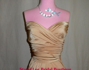 Champagne Bridesmaids Wrap Twist Dress...67 Colors...Beach, Wedding Dress, Honeymoon, Destination Wedding, Bridal Shower