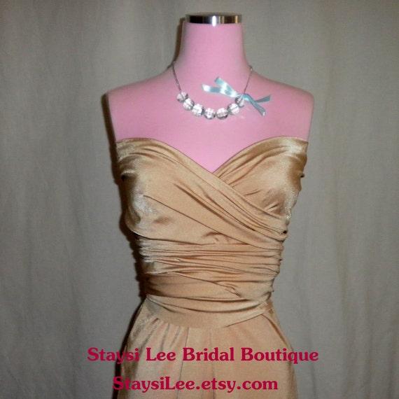 Champagne Bridesmaids Wrap Twist Dress...37 Colors...Beach, Wedding Dress, Honeymoon, Destination Wedding, Bridal Shower