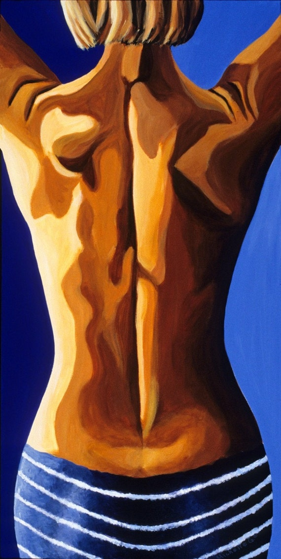 Contemporary Figurative Painting Flirt  Limited Edition Giclee