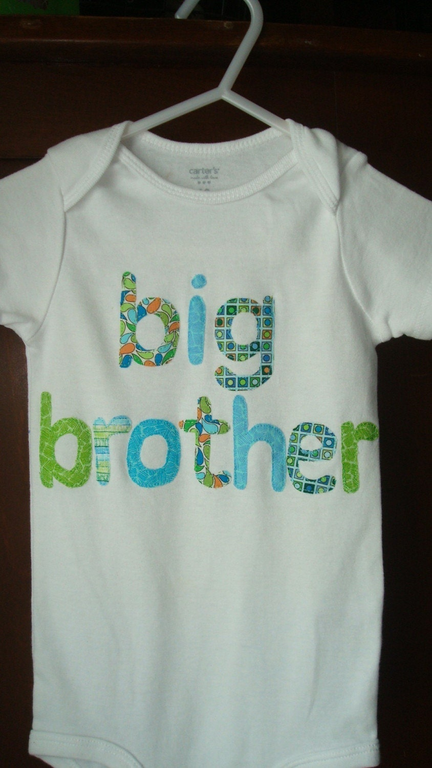 big brother onesie or t shirt applique