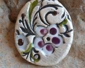 FIELD OF DREAMS clay necklace