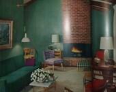 1957 Ladies' Home Journal Book of Interior Decorating-Floor Planning-Period Decoration
