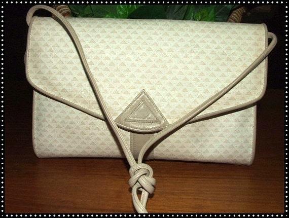 RESERVED    Vintage Liz Claiborne LOGO Shoulder Bag Purse  1984