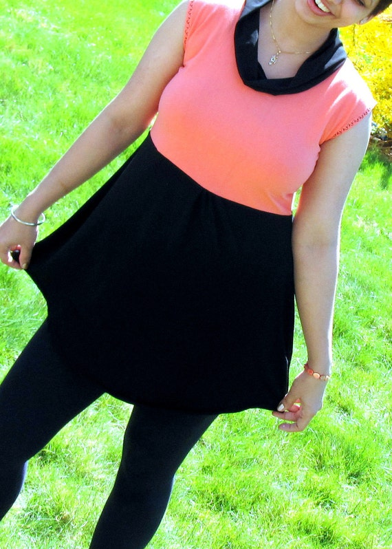 50 Percent off last chance Clearence Sale -Topsy Curvy Color Block Pleated Limited Edition Top - L OR XL ONLY ( Ready to ship )