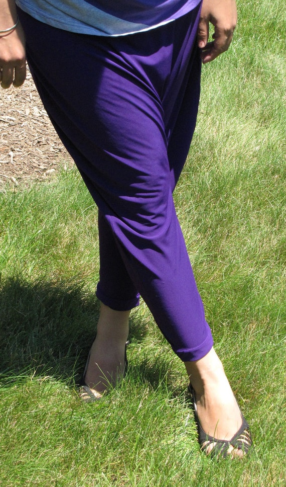 Clearance -Topsycurvy Beautiful Purple Harem Pants - Last One Ready to Ship
