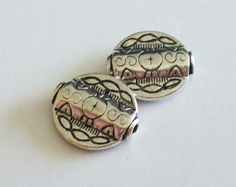 Sterling Silver Bead With Southwestern Flair