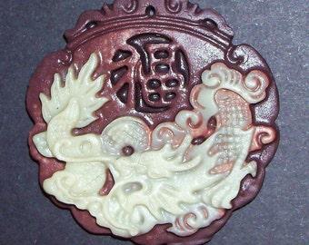 Hand Carved ZiPao Jade Dragon Pendant