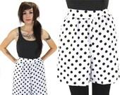 High Waisted Shorts Vintage 80s 90s Polka Dot M