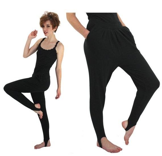 80s Stirrups Spandex Leggings Exercise Workout Pants