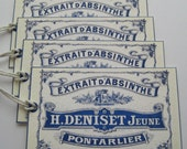 Vintage French Absinthe Label Hang Tags or Gift Tags