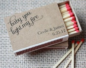 "Printable Match Box Wraps- ""Baby you light my fire"""