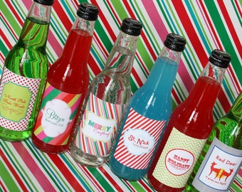 Printable Holiday Soda Label Set