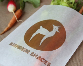Printable Bag Design- Reindeer Snacks