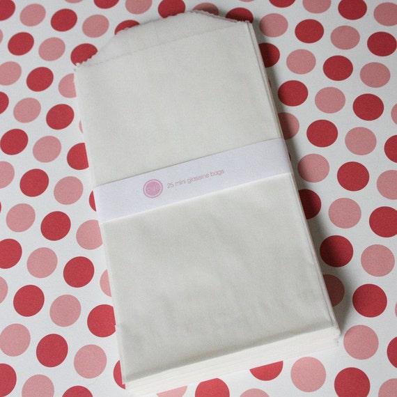 50 Printable Mini Glassine Bags