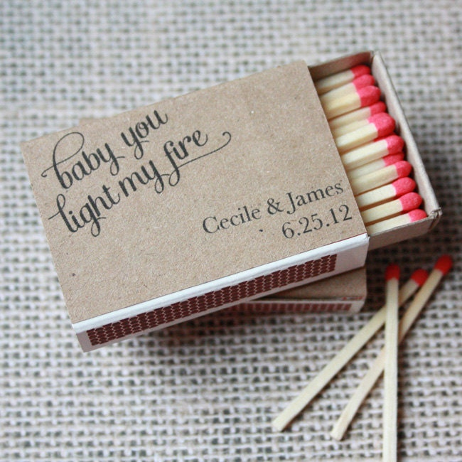 Wedding match box wraps by printyourparty on etsy
