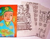 Exotic Vietimese Paper   Great for Collage or Multimedia Projects