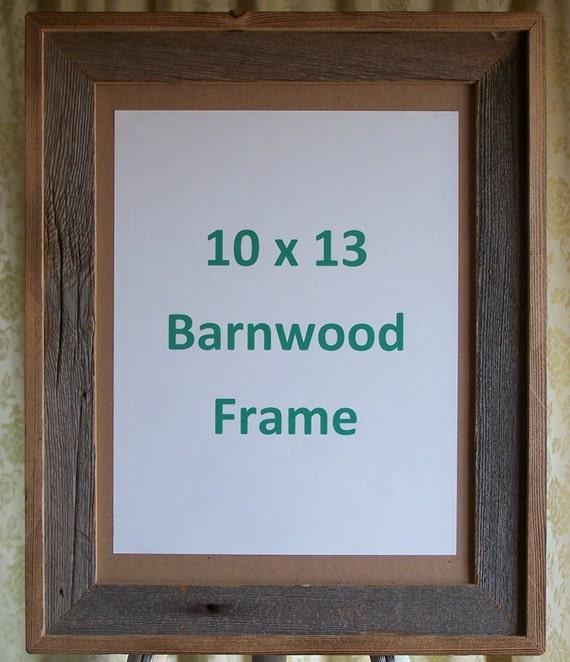 10 x 13 barnwood picture frame. Black Bedroom Furniture Sets. Home Design Ideas