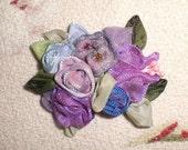 Petite Purple Blossoms  barrette