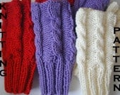 PDF Easy Knitted Cable Fingerless Gloves Pattern