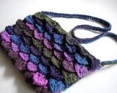 Multicolor Woodland Crocodile Stitch Handbag
